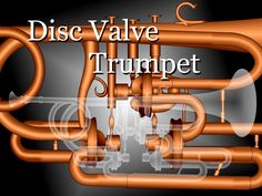 The art work done in the motif of the disc valve trumpet is exhibited here.