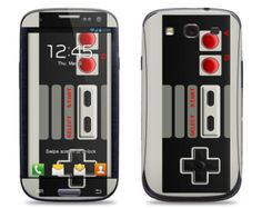 Samsung Galaxy S3 Phone Case Cover Decal - Classic Retro Gaming Controller - Galaxy S4 Case Cover Decal