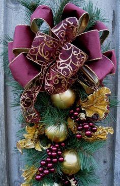 swags wreaths christmas | Christmas Swag Holiday Wreath Elegant by ... | Christmas Swag