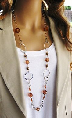 ba173d5f1a977 Best 25 Chain Necklaces Ideas On Pinterest Layered Gold   longbeadednecklacediy Silver Chain Necklace