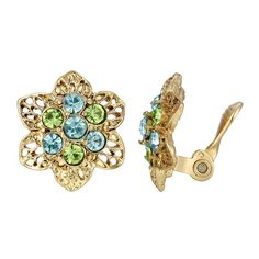 Aqua Color, Crystal Flower, Clip On Earrings, Belly Button Rings, Jewelry Watches, Brooch, Crystals, Exotic Beaches, Metal