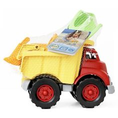 Green Toys Sand and Water Play Dump Truck with Scooper, Multicolor