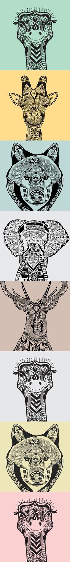 wild animals zentangle patterns - Zentangle - More doodle ideas - Zentangle - doodle - doodling - zentangle patterns. zentangle inspired - #zentangle #doodling #zentanglepatterns
