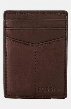 Fossil Money Clip Wallet available at #Nordstrom