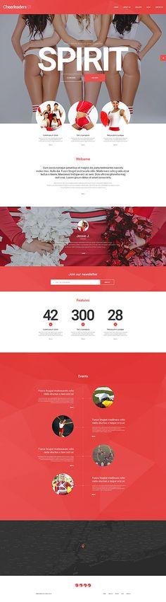 Cheerleaders Group Site #Wordpress #template. #themes #business #responsive #Wordpressthemes