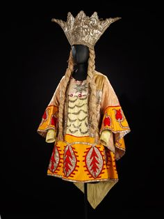 Costume designed by Natalia Gontcharova for Sea Princess in Adolph Bolm's ballet 'Sadko' (Front view) Diaghilev Ballets Russes - 1916