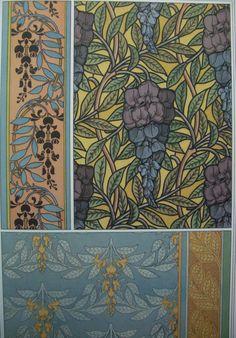 La plante et ses applications decoratives by Grasset Art Nouveau Design, Art Deco, Eugene Grasset, Applications, Artist Art, Art Reference, Flower Drawings, Flowers, Graphics