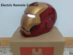 See how Face Plate Lifts with additional pics on this page- at bottom. Electric-Remote-Control-1-1-IRON-MAN-COSTUME-MK7-MASK-HELMET-FOR-COSPLAY-PROPS