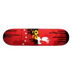 Red & Black Ink Skate