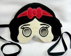 Snow White Felt  Mask