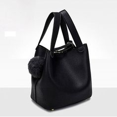 Now available at DIGDU: Top-Handle Women ... Check it out here! http://www.digdu.com/products/top-handle-women-bags-fashion-pu-womens-leather-handbags-black-women-bag-tassel-fur-bag-ball-high-quality-small-bucket-bags-sac?utm_campaign=social_autopilot&utm_source=pin&utm_medium=pin