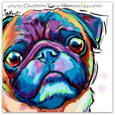 Hey, I found this really awesome Etsy listing at https://www.etsy.com/listing/189502543/pug-face-art-print