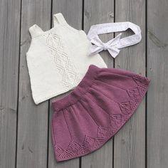 Klar For Sommaren ☀️ Klompelompe Odask Odaskjørt - DIY & Crafts Knitting Blogs, Knitting For Kids, Baby Knitting Patterns, Crochet For Kids, Hand Knitting, Knit Crochet, Baby Pullover, Baby Cardigan, Estilo Boho Chic