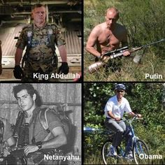 Leaders of Jordan, Russia, Israel, and the USA...  Obama is an embarrassment.