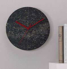 stars and constellations clock by bombus | notonthehighstreet.com