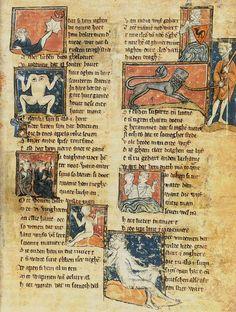 literatuurgeschiedenis.nl | de middeleeuwen ca. 1270, Jacob van Maerlant, 'Der naturen bloeme'. A work in 13 books about all aspects of nature.