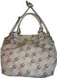 Women's Etienne Aigner Purse Handbag Maxine N/S Tote Collection Multi Neutral w/Ecru