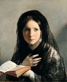 Lost in her dreams (1835)  Friedrich von Amerling  Austrian (1803 - 1887)