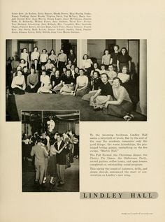 "Athena Yearbook, 1951. ""To the incoming freshman Lindley Hall seems a labyrinth of levels."" :: Ohio University Archives"