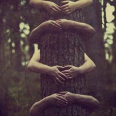 Tree hugger....totally going to be one of my family pictures someday