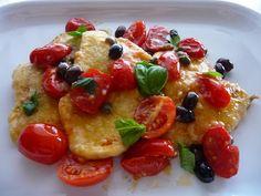Secondo piatto: scaloppine di pollo mediterranee