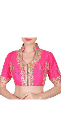 Buy this Rani pink blouse adorn in gotta patch work only on Kalki