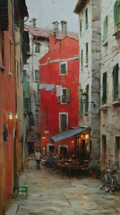Artist: Dmitri Danish, Title: Early Evening on the Street - click to close window