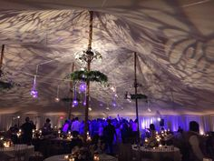 Gobo on the ceiling inside the tent