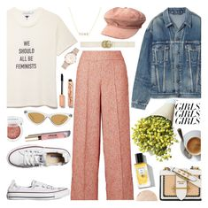 """Loud and Proud: Girl Pride 💜 9-3-2018"" by anamarija00 ❤ liked on Polyvore featuring Balenciaga, Rodin, Steve Madden, Gucci, By Malene Birger, Converse, Le Specs, Maya Brenner Designs, Clinique and Stila"
