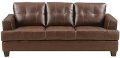 Manuel Brown Leather Sofa