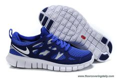 4795907fbc87 477701-149 Bright Blue Loyal Blue Metallic Silver White Womens Nike Free  Run 2 Sale