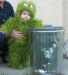 Oscar the Grouch - If R was still little-ish I would totally do this to her for Halloween!