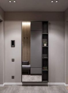 Apartment Door Entrance Design Ideas For 2020 - Image 13 of 24 Dressing Table Design, Dressing Room Mirror, Apartment Entrance, Bedroom Closet Design, Wardrobe Design Bedroom, Entrance Hallway, Wardrobe Door Designs, Entrance Door Design, Dressing Room Design