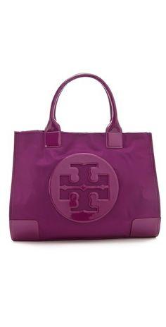 Tory Burch - Purple Nylon Ella Tote