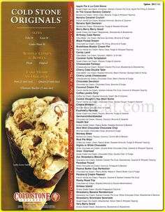 Cold Stone Creamery Ice Cream Originals