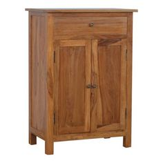 Solid Sheesham Wood 2 Door 1 Drawer Sideboard