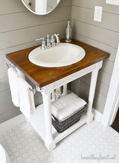 My Kentucky Home Tour | Beneath My Heart check out the tut...a great idea for the master bath