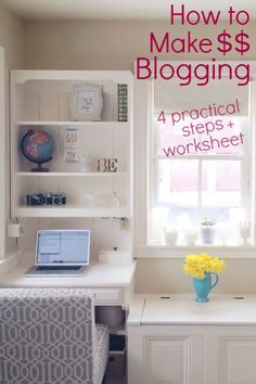 Bloggers don't often start a blog to make money, but eventually ask how to make money blogging. This post gives four steps of how to make money blogging!