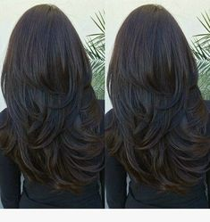 Charming 50 Hair colors and Hairstyles ideas - Hair Cut Layered Haircuts For Women, Haircuts For Long Hair With Layers, Long Hair Cuts, Straight Hairstyles, Layered Long Hair, Layered Black Hairstyles, Long Hair Layer Cut, Layered Haircuts Straight, Short Hairstyles