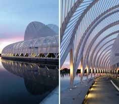 The Innovation, Science, and Technology building at Florida Polytechnic University in Lakeland. By architecture Santiago Calatrava