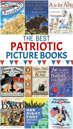 These patriotic books are the perfect picture books to read if you're looking for 4th of July Books for kids or books to read for Memorial Day, Veteran's Day, or other patriotic holidays!