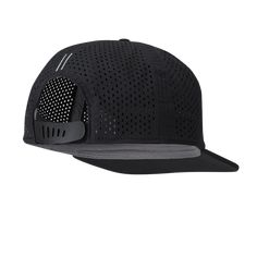 c7794ace8b3 Cliff Flat Brim Snapback Sport Performance Baseball Cap in Black