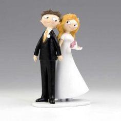 Figurines mariés pour gateau