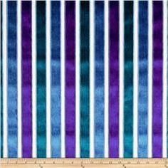 Robert Allen Promo Velvet Neo Stripe Upholstery Ultramarine