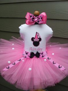I'm thinking Minnie birthday party theme soon for Anabelle!