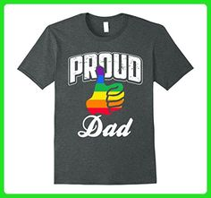 Mens Proud Dad LGBT Gay Pride Month T-Shirt Large Dark Heather - Relatives and family shirts (*Amazon Partner-Link)