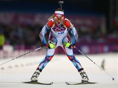 DAY 8:  Eva Puskarcikova of the Czech Republic competes in the Biathlon Women's 15km Individual