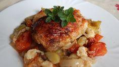 Fotorecept: Kuracie stehná pečené so zeleninou Meat, Chicken, Food, Red Peppers, Essen, Meals, Yemek, Eten, Cubs