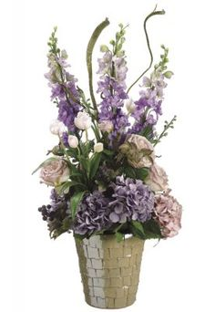 Delphinium/ Hydrangea/ Rose Silk Flower Arrangement ARWF3702