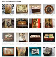 www.etsy.com/treasury/NTc4Nzk3NDl8MjcyNDc0MzE4OQ/whats-better-than-swiss-chocolate #junktardblonde #reugemusicbox